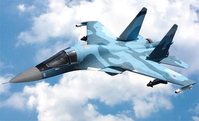 Su-34 Fullback 360 Degree Twin Vectored Thrust Jet, Blue (OVERSIZE)