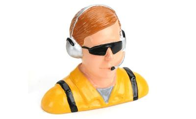 1/4 Pilot, Civilian w/Headset & Mic, Sunglasses