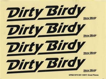 Great Planes Decals Dirty Birdy ARF GPMA2166