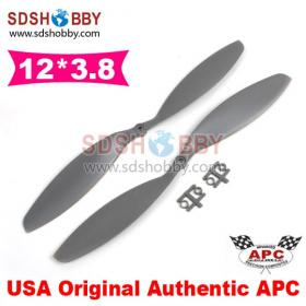 One Pair* USA Original Authentic APC 1238 12x3.8 12*3.8 Nylon Positive and in Reverse Propeller for Multicopter