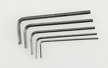 Great Planes Short Hex Wrench Set (5) GPMR8020
