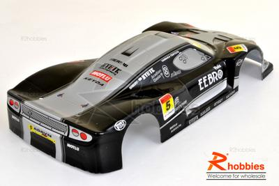 1/18 LOTUS Analog Painted RC Car Body With Rear Spoiler (Black)