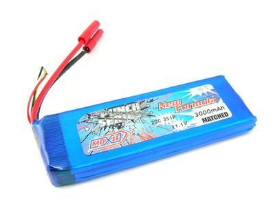 Moxie Punch Series 20C 11.1V 3S 3000mAh Lipo (Gold Bullet 4mm)