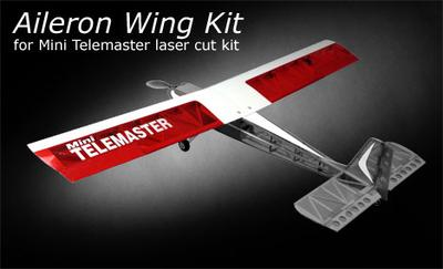 Aileron Wing Kit for Mini Telemaster, Laser Cut