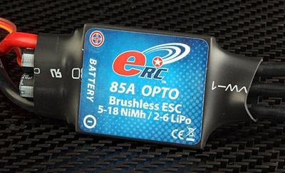 eRC 85A Brushless Programmable Opto ESC
