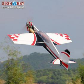 New 65in Yak54 20cc Profile ARF RC Model Gasoline Airplane/Petrol Airplane White & Red & Gray Color