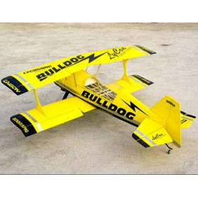 New Pitts S12 100cc RC Model Gasoline Airplane ARF/Petrol Airplane -Bulldog Yellow/Black Version (A)
