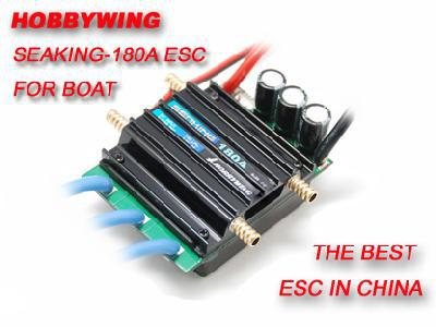Seaking-180A 2-6S Brushless ESC W/Water cooling for Boat V2