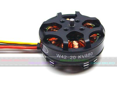 HL W42-20 650KV Outrunner Brushless Disk Type Motor for 450-550 Multi-rotor Aircraft (for 4S)