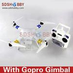 Angel Aircraft Quadcopter/Four-axis Flyer/Multicopter/Multi-rotor Kit with Frame +Propeller +Gopro Gimbal
