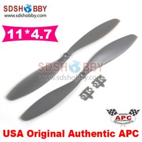 One Pair* USA Original Authentic APC 1147 11x4.7 11*4.7 Nylon Positive and in Reverse Propeller for Multicopter