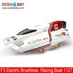 Fiberglass F3 Electric Brushless RC Racing Boat 1127 with 3000 KV motor + 70A ESC
