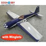 NEW 27% 74in Slick 540 Carbon Fiber Version 30~35cc RC Gasoline Airplane/Petrol Airplane ARF (with Winglets)-Blue & White Color
