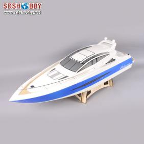 Princess Electric Brushless RC Boat Fiberglass with 3650 KV1500 motor with Water Cooling 120A ESC (W/O Radio System)
