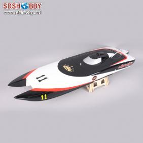 1107 Apparition Catamaran Electric Brushless RC Boat Fiberglass with 380-2858 KV2881 Two Motors, 70A Two ESC