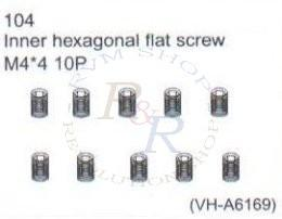 Inner hexagonal flat screw M4*3 10P (VH-A6196)