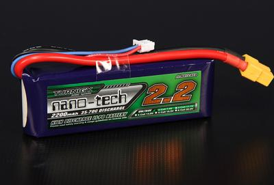 Turnigy nano-tech 2200mah 2S 35~70C Lipo Pack