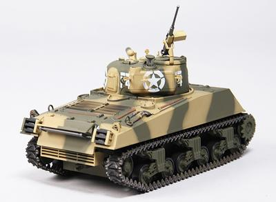 US-M4A3 Sherman Medium RC Tank RTR w/ Tx/Sound/Infrared (Desert)