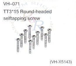 TT3*15 Round-headed selftapping screw (VH-X5143)