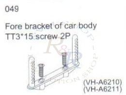 Rear bracket of car body (1P) + TT3*10 screw (2P)(VH-A6156)