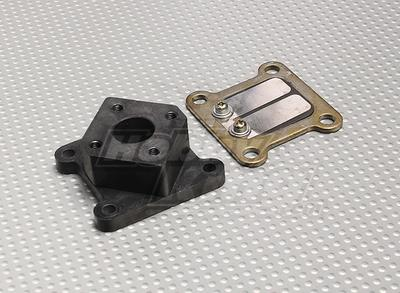 RCG 26cc Reed Block and Manifold