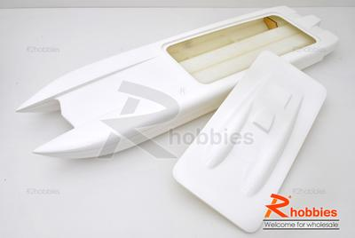 "36"" EP Fiberglass RC FRP Twin Power Catamaran Racing Boat Hull"