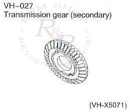 Transmission gear (secondary) (VH-X5071)