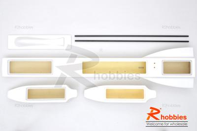 "31.6"" RC EP FRP Epoxy Fiberglass Sea Arrow ARR Racing Outrigger Boat (Unassembled Kit)"