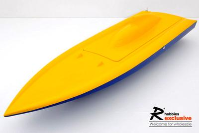 "31.5"" EP Fibreglass Deep-vee Mono 2 Arowana ARR Racing Boat - Yellow/Blue (US Warehouse)"