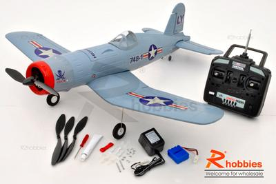 "4 Channel RC EP 34.25"" Aerobatic F4U CORSAIR FF59 EPO Foamy RTF Scale Plane"