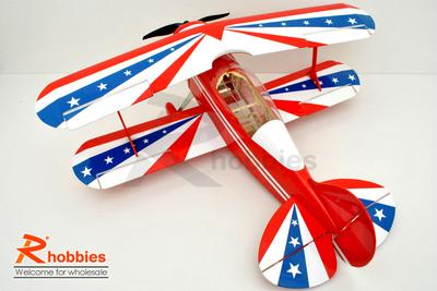 "4 Channel RC EP 31.0"" Balsa Wood Bi-Wing Pitts Scale Plane"