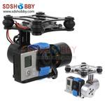 2-axis Brushless Gimbal/Camera Mount with Alexmos Controller & Motor & Sensor for Gopro 3 FPV DJI Phantom Black & Silver
