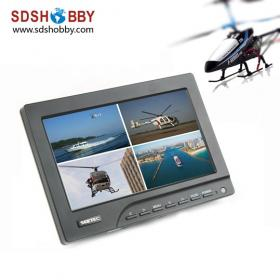 7in LCD Monitor for FPV Aerial Photography with Lint Sun-hood and 12V Power Adapter