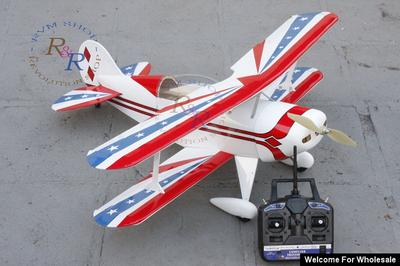 "4 Channel RC EP / GP 38.97"" Balsa Wood Bi-Wing Pitts Scale Plane"
