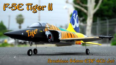 F-5E Tiger 64mm 4CH RTF Ducted Fan Rc Jet Plane