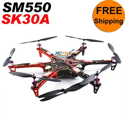 SK30A & SM550V2 Black/Red Multicopter Combined