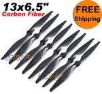 "(4Pairs) 13x6.5"" Carbon Fiber CW CCW Propellers"