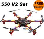 Red Multicopter SM550V2 2212&30A Combined