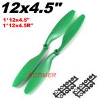 "1 Pair Green 12x4.5"" 1245EPP Counter Rotating Propellers"