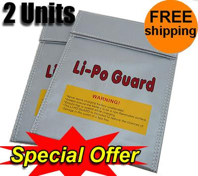 GET 20% OFF! 2X Lithium Polymer Charge Pack 18x23cm Sack