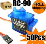 50Pcs RC-90 Micro 9G Servo For Airplane Helicopter