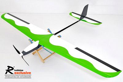 3Ch RC EP 1.4M Blue Wing T-Tail Thermo Sailplane Glider