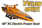 "1:14 Scale Spurt Radio Controlled Speed Boat 40"" Long"