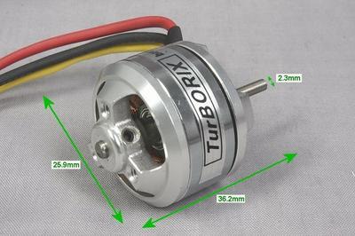 Turborix RC Plane 4500kv (rpm/v) 278W D2623 Outrunner BL Brushless Motor