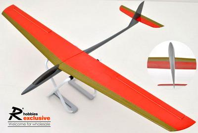 2Ch RC EP 1.2M Speedo Pro Mark II Glider - Red / Gold Carbon Front Edge (US Warehouse)