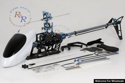 6Ch ROBO 450 CCPM Carbon Fiber Airframe ARF RC Helicopter