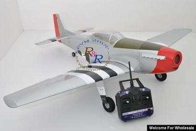 1/8 RC EP/GP 1410mm P-51 Mustang Balsa Wood Scale ARF Plane