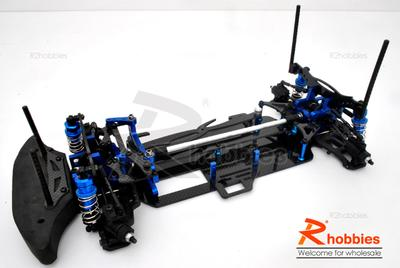 1/10 RC EP Full Counter Pre-motor Design Drift Car Carbon Fiber Chassis (Shaft-Drive)