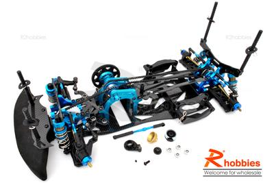 1/10 RC EP Full Counter Pre-Motor Drift Car Carbon Fiber Chassis Kit (One-Way Direction, Belt-Drive)