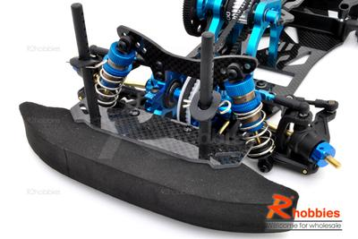 1/10 RC EP Pre-Motor Front-Rear Drift Car Carbon Fiber Chassis Kit (Belt-Drive)